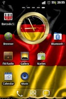 Screenshot of Germany flag clocks