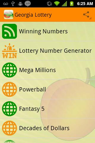 Georgia Lottery Results - screenshot