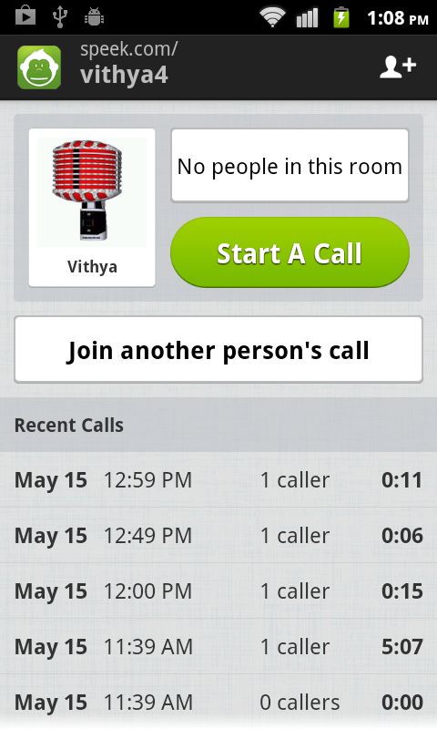 Speek - Free Conference Call - screenshot