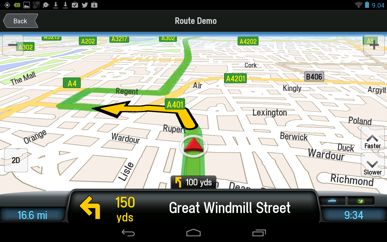 CoPilot Premium UK+IRE Sat Nav - screenshot
