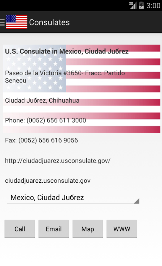 US Embassies and Consulates- screenshot