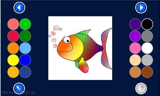 kids coloring - Fish