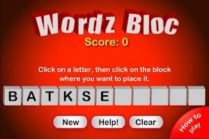 Screenshot of WordzBloc