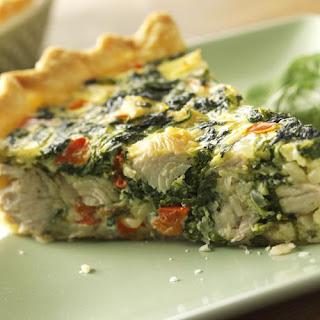 Turkey, Spinach and Swiss Quiche.