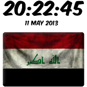 Iraq Digital Clock