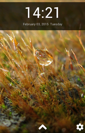 Water Drop Lock Screen