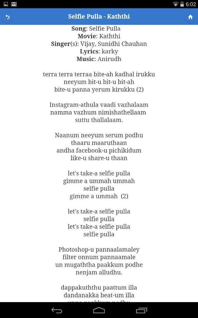 Lyric naan movie song lyrics : Tamil Song Lyrics - Google Play Store revenue & download estimates ...