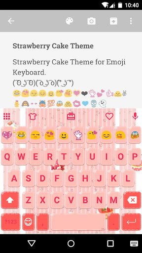 Strawberry Cake Emoji Keyboard