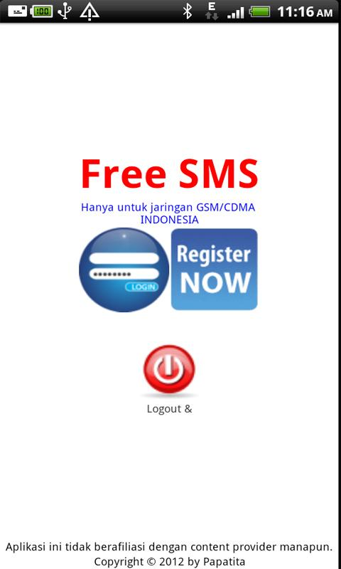 Free SMS Indonesia- screenshot