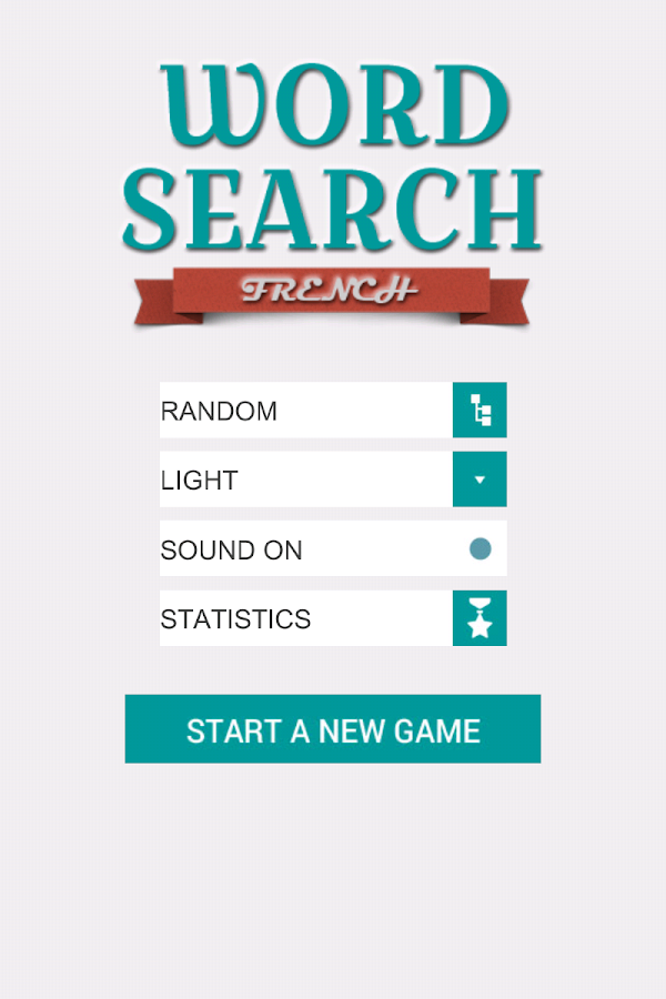 Word Search: French- screenshot