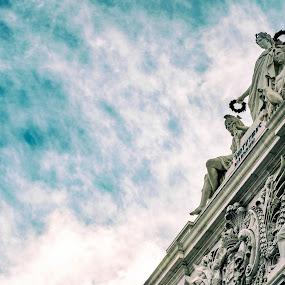 Gods by Ricardo Rocha - City,  Street & Park  Historic Districts ( sky, statues )