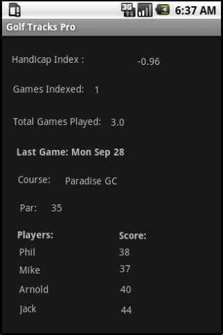 Golf Tracks Lite- screenshot