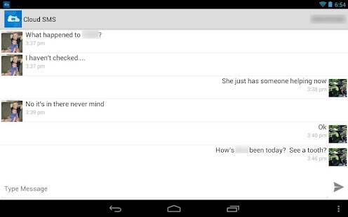 Cloud SMS - Easy Tablet SMS! - screenshot thumbnail