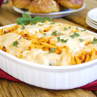 The 30-Minute Cheesy Chicken Pasta Bake