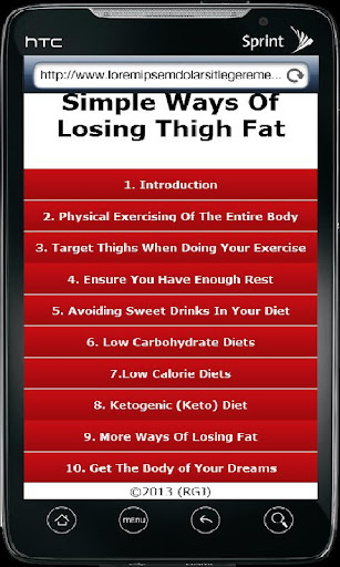 Simple Ways To Lose Thigh Fat 1.0 screenshots 1