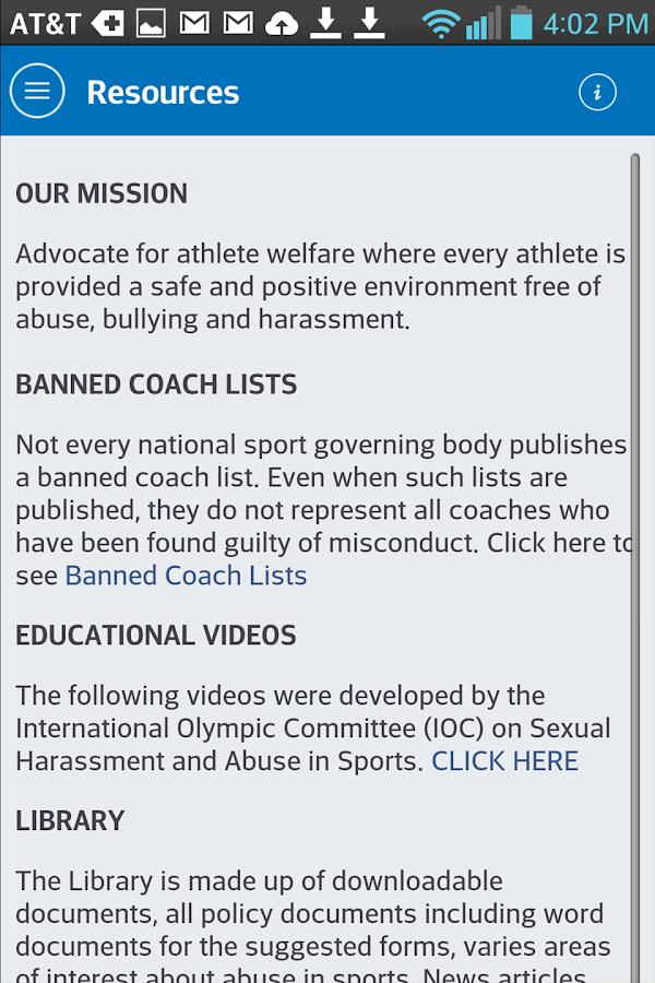 Safe4Athletes - screenshot