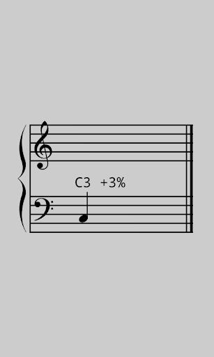 大谱表校音器