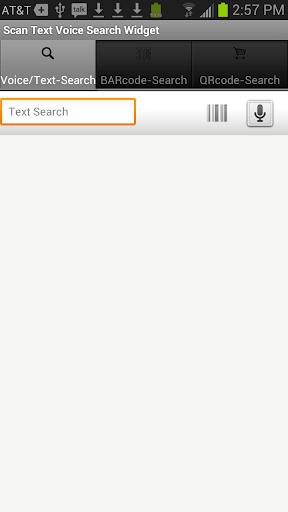 Scan Text Voice SearchWidget