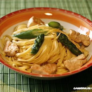 Chicken, Lemon, and Green Asparagus Tagliatelle.