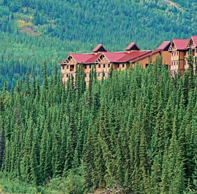 Denali Princess Wilderness Lodge sits in the middle of  Denali Nature Park and Preserve in Alaska.  Book it as part of a pre- or post-cruise with Princess.