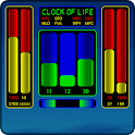 Clock of Life (blue sun) LWP icon