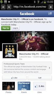 FC Manchester City News - screenshot thumbnail