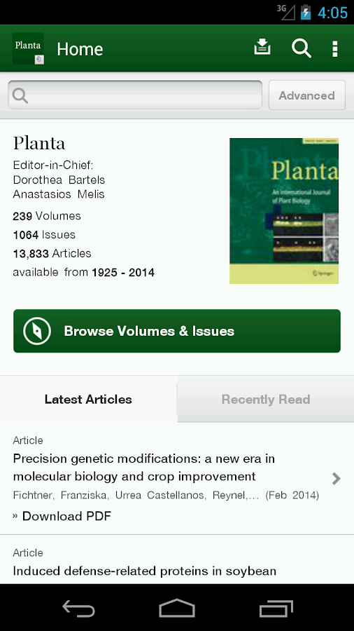 Planta- screenshot