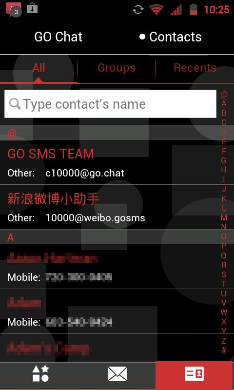 GO SMS THEME - Red Shapes- screenshot