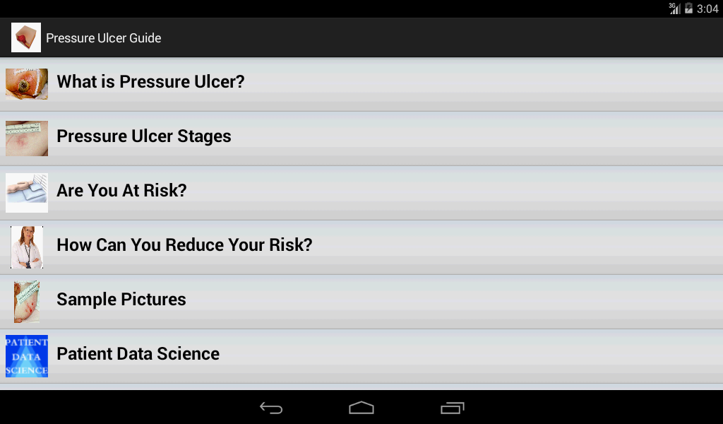 Pressure Ulcer- screenshot