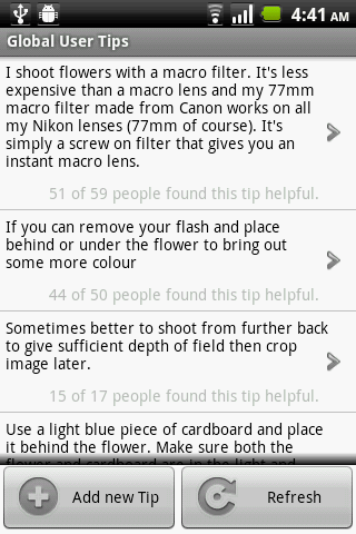 PhotoCaddy - Photography Guide - screenshot