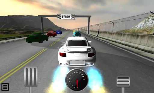 カーレースドライブの3D