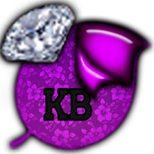 KB SKIN -Purple DiamondFlowers