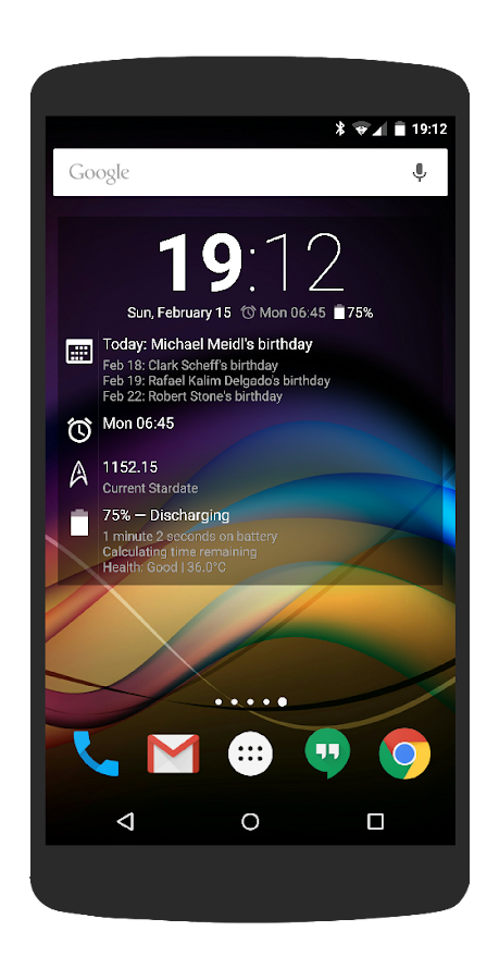 Chronus: Information Widgets- screenshot
