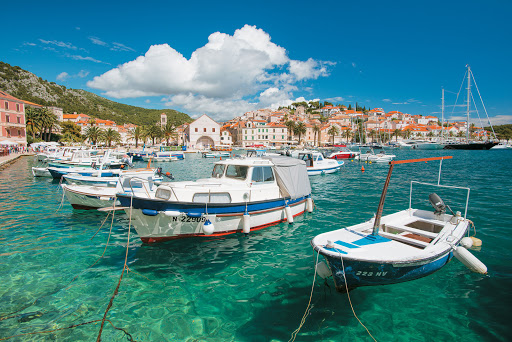 """Tere-Moana-Hvar-harbor - The """"queen"""" of Croatia's spectacular Dalmatian islands, Hvar, is famous for its scenic beauty, rich history and mild climate. It's one of the Mediterranean ports that Tere Moana calls on."""