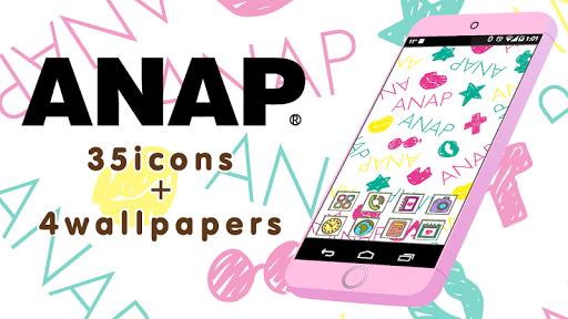 アイコンきせかえ-アナップ(ANAP)-カラフルな壁紙付き♪