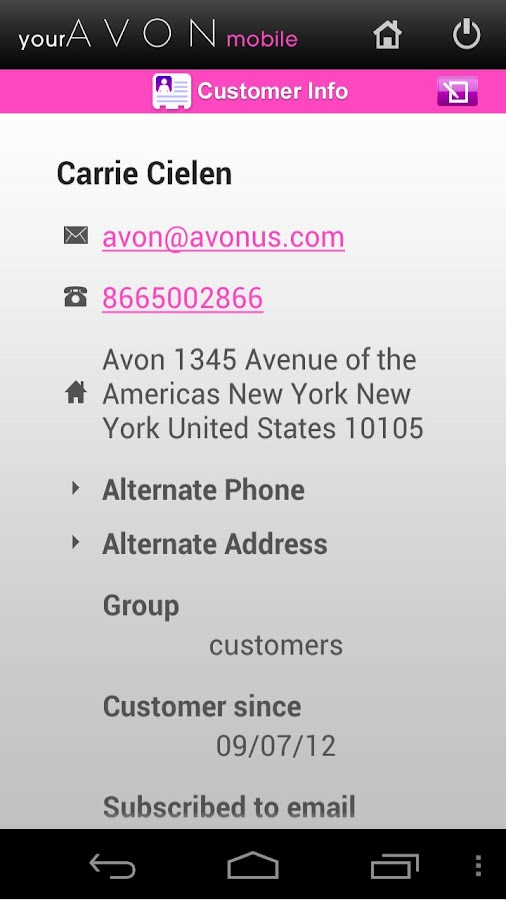 yourAvon Mobile - screenshot