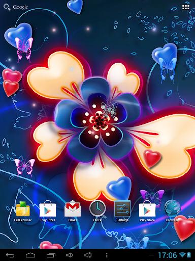 Neon Hearts Live Wallpaper|玩個人化App免費|玩APPs