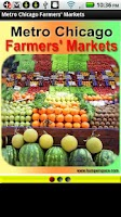 Screenshot of Metro Chicago Farmers Markets