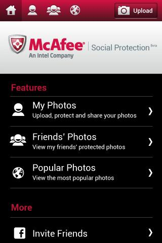 McAfee Social Protection Beta - screenshot