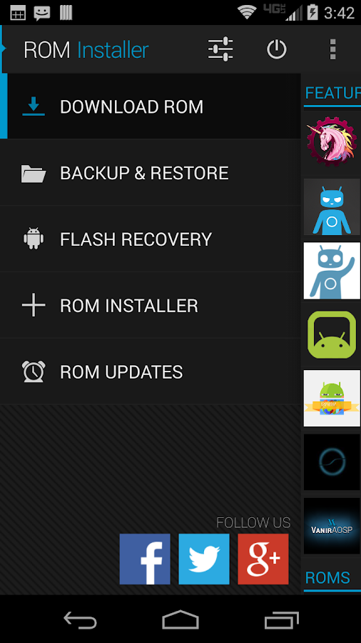 ROM Installer- screenshot