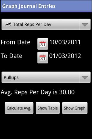 My Workout Journal - screenshot