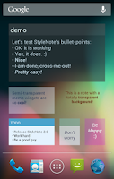 Screenshot of StyleNote Notes & Memos