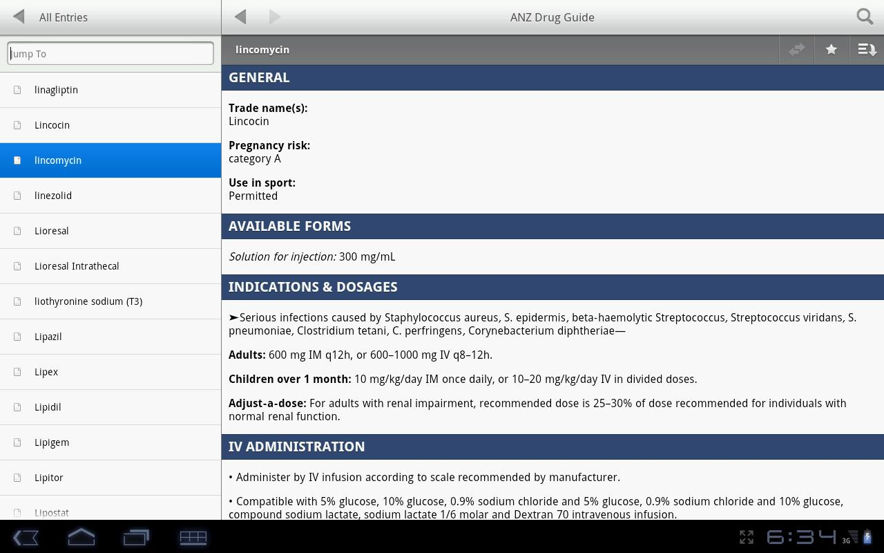 ANZ Drug Guide - screenshot