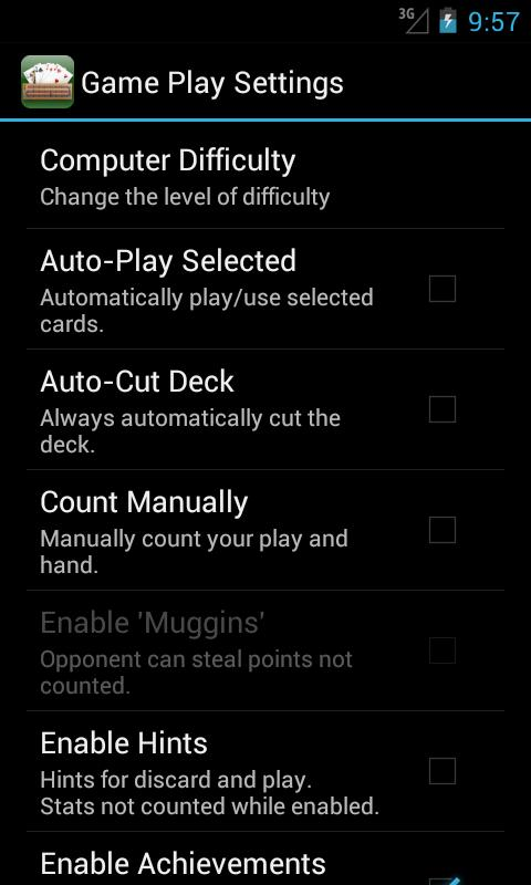 Cribbage Pro Online!- screenshot