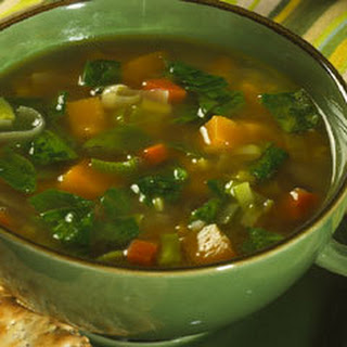 Butternut Squash & Spinach Soup.