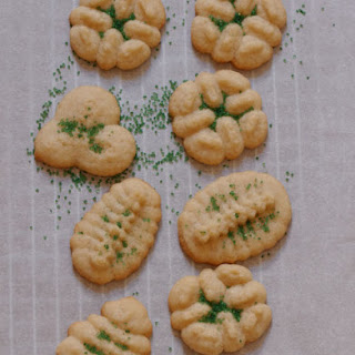 Holiday Spritz Cookies.