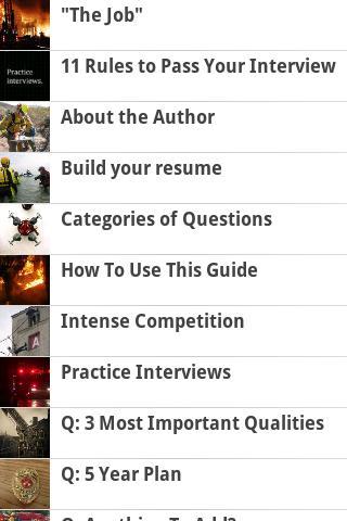 Firefighter Interview Guide - screenshot