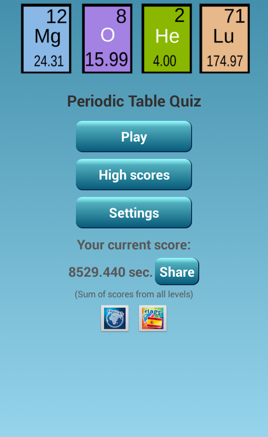 Periodic Table Quiz - screenshot