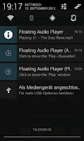 Screenshot of Floating Audio Player
