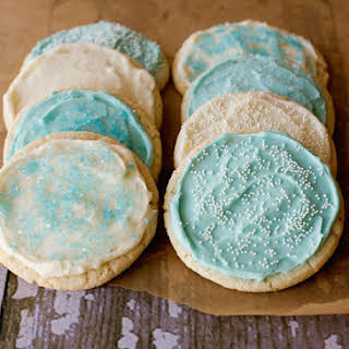 Frosted Sugar Cookies.